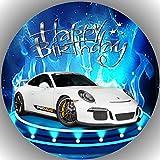 Premium Esspapier Tortenaufleger Tortenbild Geburtstag Porsche N2