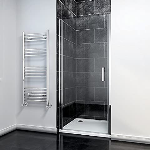 900mm Frameless Pivot Hinge Shower Enclosure + 900x900mm Stone tray+Free Waste Trap NEXT WORKING DAY DELIVERY by sunny showers,ultra