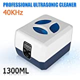Floureon® 1300ml Nettoyeur à ultrasons affichage numérique en acier inoxydable et plastique- 40 KHz transducteur renforcé