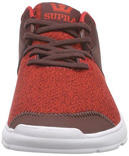 Supra - Noiz, Scarpe da ginnastica Unisex – Adulto Rosso (Rot (RED HEATHER - WHITE RHT))