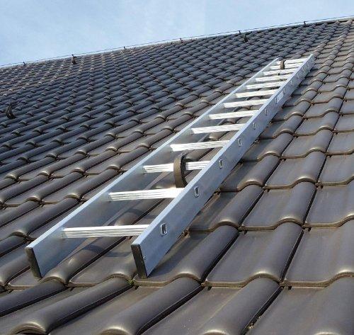 Preisvergleich Produktbild Kaminkehrerleiter Dachleiter Aluminium 20 Sprossen 5, 60m