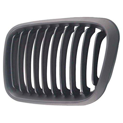 Preisvergleich Produktbild Elegante _ Smart 1 Paar Vorne Ersatz matt schwarz Nieren Grill Gitter