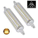 AscenLite 10W Nicht Dimmbar R7s LED-Scheinwerfer-Birnen-118mm Warm Weiß 3000K 360 Degrees Double Ended J118 R7s LED Lampe 100W Halogen-Ersatz Zwei Pack