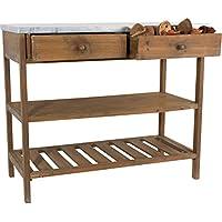 Gartentisch Pflanztisch Gärtnertisch Deko Tisch im Vintage Shabby Chic Look braun / grau