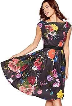5b905af1d44 Debut Womens Multicoloured Floral Print Prom Dress