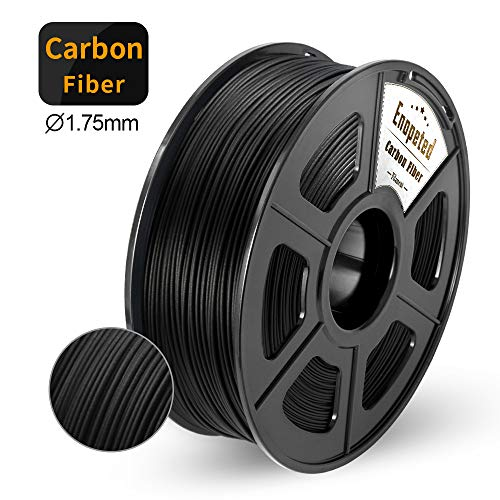 Kohlefaserge fülltes PLA 3D-Druckerfilament, Extrem Steife Kohlefaser,Premium 3D Drucker Filament Maßhaltigkeit 1,75mm +/-0,02mm,Carbon Fiber 1KG,Schwarz