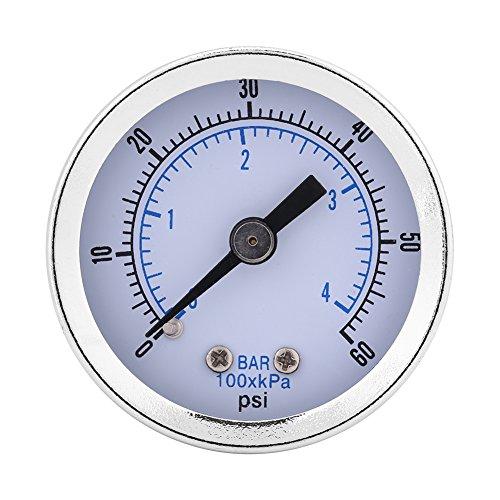 """0-60psi 0-4bar 1/8 """"BSPT Manometer Manometer für Wasser Luft Öl Dial Instrument"""