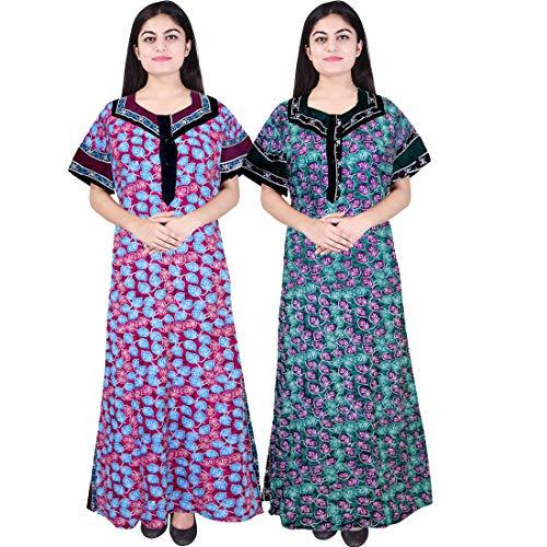 Mudrika Womens 100% Pure Cotton Nighty...