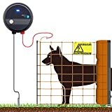 VOSS.farming 50m Komplettset Weidezaungerät und Elektronetz Orange Hundezaun große Hunde