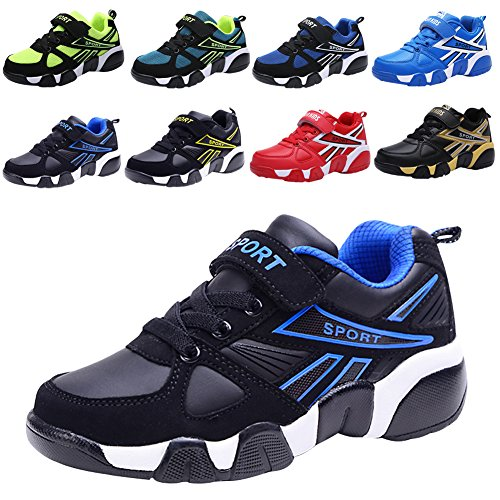 Boy's Girl's Sneakers Athletic Easy Strap Laufschuhe (Kleinkind / Little Kid / Big Kid) Schwarz(Black)