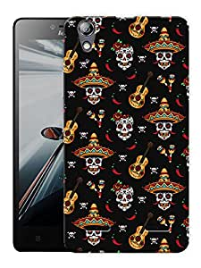 "Humor Gang Mexican Guitar Printed Designer Mobile Back Cover For ""Lenovo A6000 - A6000 PLUS"" (3D, Matte Finish, Premium Quality, Protective Snap On Slim Hard Phone Case, Multi Color)"