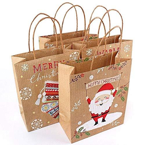 Surenhap Bolsas Regalo Navidad Diseño asa Marrón
