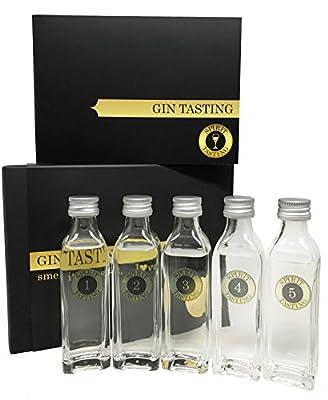 SPIRIT TASTING - Gin Tasting Paket (5x40ml) inkl. Booklet & Anleitung - Gin Sul, Hoos Gin, The Duke Gin, Siegfried Gin, Berliner Brandstifter Gin