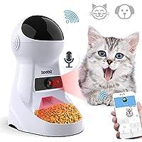 Iseebiz 3L Comedero Automatico para Gatos y Perros Con Cámara de 720p con 6 Dosis de Comida por Día