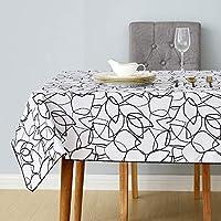 Deconovo Manteles Mesa Rectangular Estampada Diseño Hoja Impermeable Mantel para Salón Cocina Restaurante 140 x 200 cm Gris