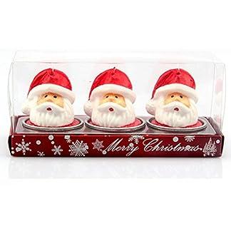 itemer lujo velas de Navidad Papá Noel velas de té juego de regalo de Navidad