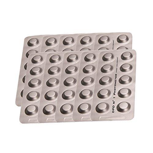 PoolLAB Testtabletten DPD1 / freies Chlor Nachfüllpackung für elektronischen Poolwassertester-100