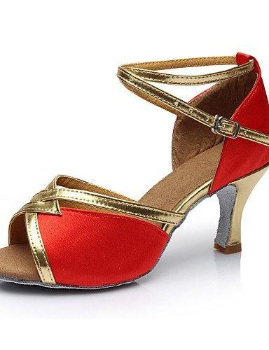 Dimensions shangyi ajustables–gefertigter Paragraphe–Satin–Latin–Femme Rouge - rouge