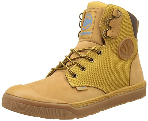 Palladium Palaru Hi Wp H, Baskets Hautes Homme Jaune (846 Amber Gold/Mid Gum)