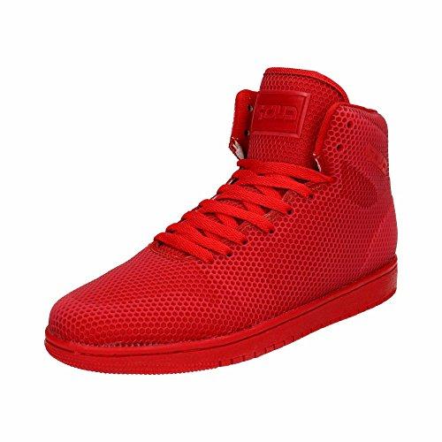 Japanolo Herren Sneaker High Top Sportschuhe Basketball Freizeit Schuhe Rot EU 42
