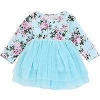 squarex Newborn Infant Baby Girl Clothes Floral Princess Tutu Tulle Party Dresses Dancing Dresses