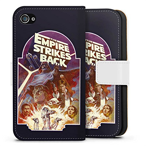 Apple iPhone X Silikon Hülle Case Schutzhülle Star Wars Merchandise Fanartikel The Empire Strikes Back Sideflip Tasche weiß