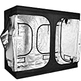 """iPower 96""""x48""""x80"""" Hydroponic Water-Resistant Grow Tent with Removable Floor Tray for Indoor Seedling Plant Growing 4'x8'"""