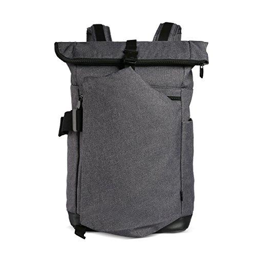 CAI 15,4'' Business Laptop-rucksäcke Anti-Theft Rolltop Rucksack Water Resistant Satchel Laptop Backpack Doppel Fächer Tasche...