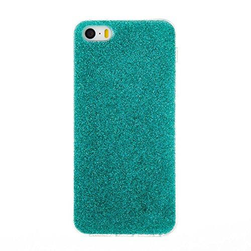 Pour iPhone 5 5S 5G / iPhone SE Case Cover, Ecoway TPU Soft Silicone Série à cinq pointes Housse en silicone Housse de protection Housse pour téléphone portable pour iPhone 5 5S 5G / iPhone SE - Rose  Bleu-vert 8