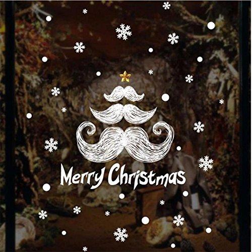 ster Glas Pvc Wall Sticker Weihnachtsbaum Diy Schnee Wand Aufkleber Startseite Aufkleber Weihnachten Dekoration Für Zu Hause Versorgt (Neue Jahre Versorgt)