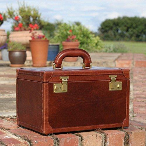 Maxwell Scott - Vanity case en cuir marron foncé (Bellino) Marron Clair