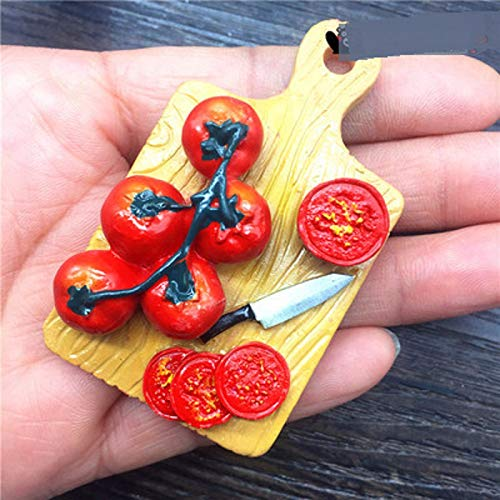 bensmittel Tomatenbrett Stil Kühlschrank 3D Magnete Refrigeratot Magnetic Sticker Reise Souvenir Home Decoration Zubehör ()