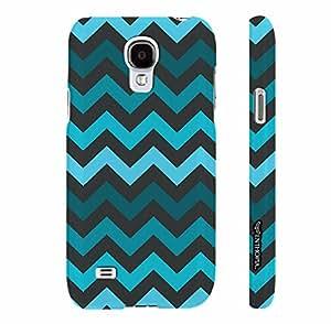 Samsung Galaxy S4 mini CHEVRON BLUES designer mobile hard shell case by Enthopia