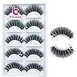 ICYCHEER 5 Pairs 3D False Eyelashes Natural Wispy Fake Eye Lashes Handmade Long Natural Soft Extension