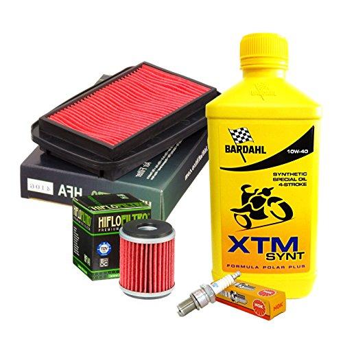 Kit tagliando Bardahl XTM Synt 10W40 filtro olio aria candela Yamaha WR/YZF R/X