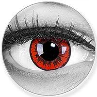Colores Ángel de lente de contacto en rojo + 60ml Cuidado de + comida–funnylens Marca de calidad, 1par (2unidades)