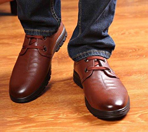 Scarpe Uomo Scarpe Casual Cuoio Scarpe In Pizzo Brown