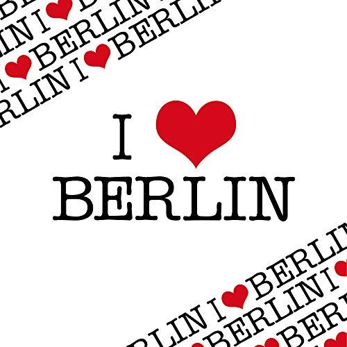 Apple iPhone 6 Bumper Hülle Bumper Case Glitzer Hülle Berlin Love Amour Bumper Case transparent grau
