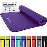 MSPORTS Gymnastikmatte Premium inkl. Übungsposter + Tragegurt | Hautfreundliche - Phthalatfreie Fitnessmatte - sehr weich extra dick | Yogamatte (190 x 100 x 1,5 cm - Violett)