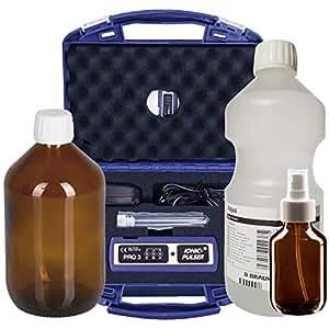 Ionic-Pulser® PRO3 Silber-Generator + Wasser + Medizinflasche und Sprühflasche