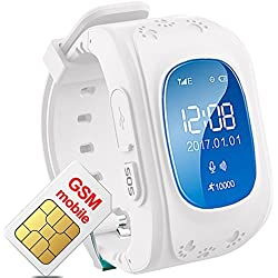Hangang GPS Smart watch locator localisateur gps tracker for Child (white)