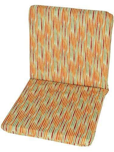 EMH Gartenstuhlauflage Ersatzkissen 100% Baumwolle 88cm x 45cm (Milano)