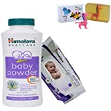 Himalaya Herbals Baby Powder (400g)+Himalaya Herbals Soothing Baby Wipes (72 Sheets) With Happy Baby Luxurious Kids Soap With Toy (100gm)