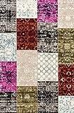 LIFA LIVING® Tappeti Patchwork   Tappeto Stile Vintage   Tappeto per Salotto e Camera da Letto   Disponibile in Diversi Colori e Taglie, 160_x_230_cm