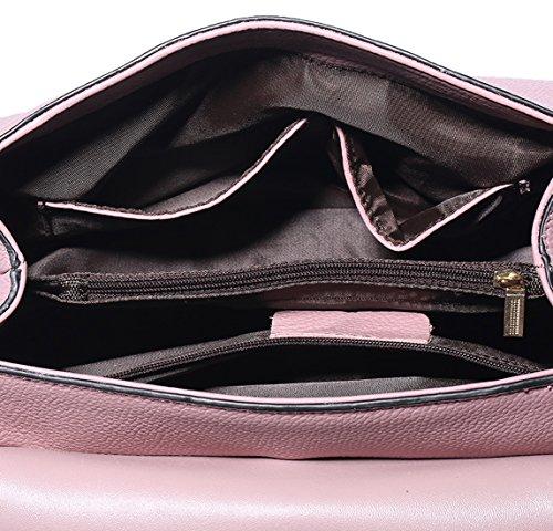 SAIERLONG Neues Damen Rosa Rindleder-Echtes Leder Damen Handtaschen Schultertaschen Rosa