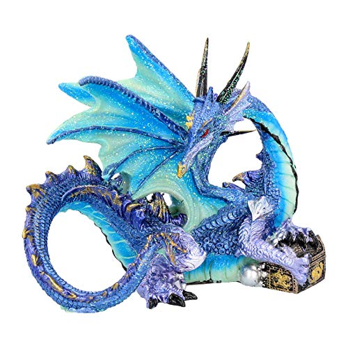 Nemesis Now Piasa - Figura Decorativa (15 cm, 16,5 cm), Color Azul