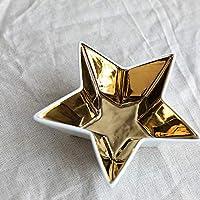 njhswlti Tazón de Fuente de la decoración de la Navidad de la Forma de la Estrella