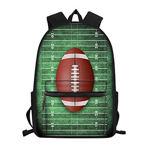 Kleine Jungen Rugby (Nopersonality Rucksack für Schule mit Balldesign, Büchertaschen, Studenten, Teenager, Jungen, klein, Rugby 3 (Blau) - Nopersonality)