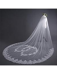 f67fa9437a Velo de novia de la boda Vestidos de novia largos de la catedral de los  velos de la boda Accesorios de novia de los…