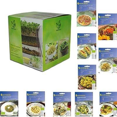 mgc24® Keimbar | Keimsprossenbox zur Anzucht von Keimsprossen mit 4 Keimschalen und Deckel von mgc24 bei Du und dein Garten